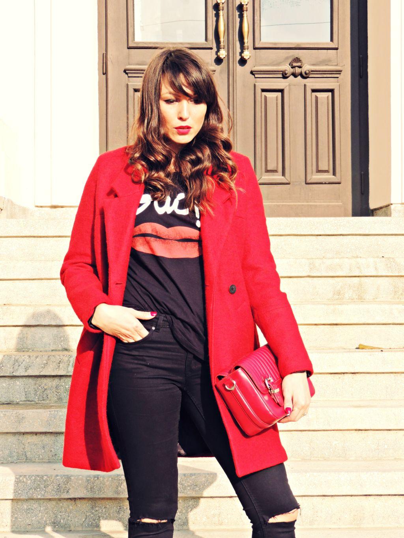 palton rosu Zara toamna iarna 2014 2015 4