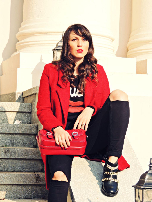 palton rosu Zara toamna iarna 2014 2015 8