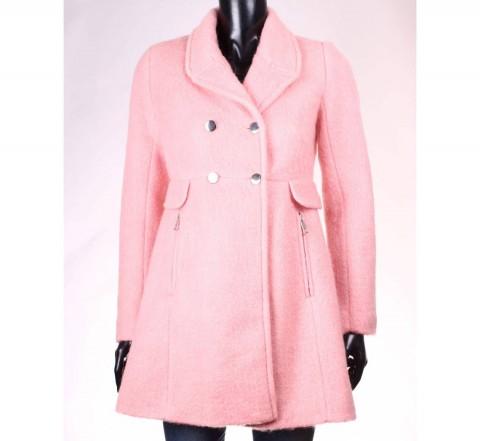 palton stradivarius roz