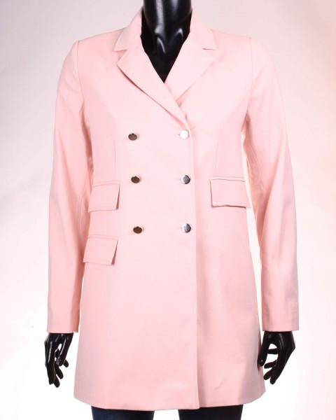 palton stradivarius roz pudrat