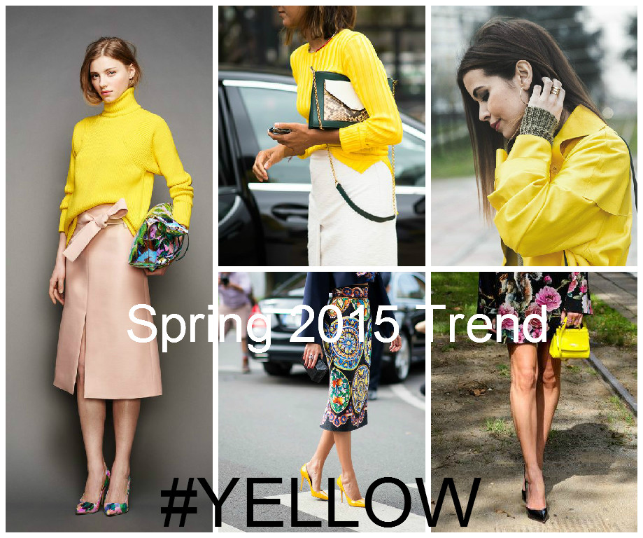 SPRING 2015 TREND YELLOW