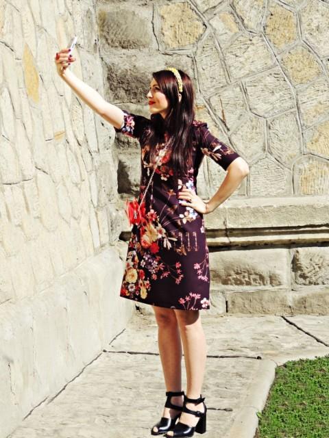 rochie cu imprimeu floral colectia primavara 2015 Sense