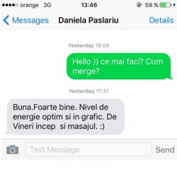 Daniela Paslariu Alege sa slabesti sanatos