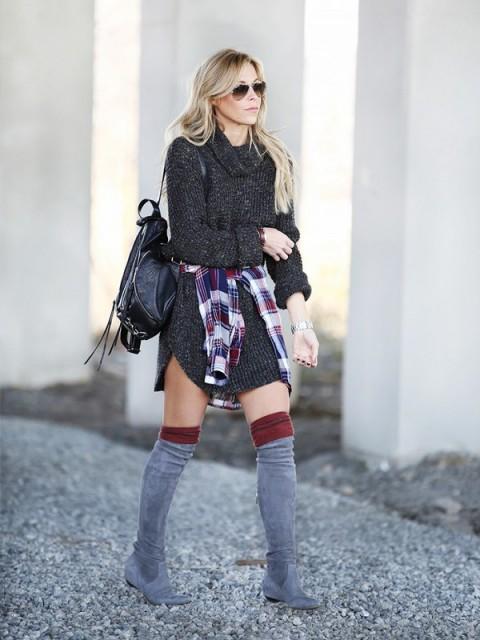 tinuta trendy iarna pulover 2