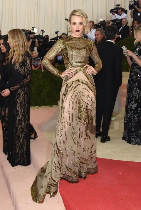 Met Gala 2016 covorul rosu Rachel McAdams
