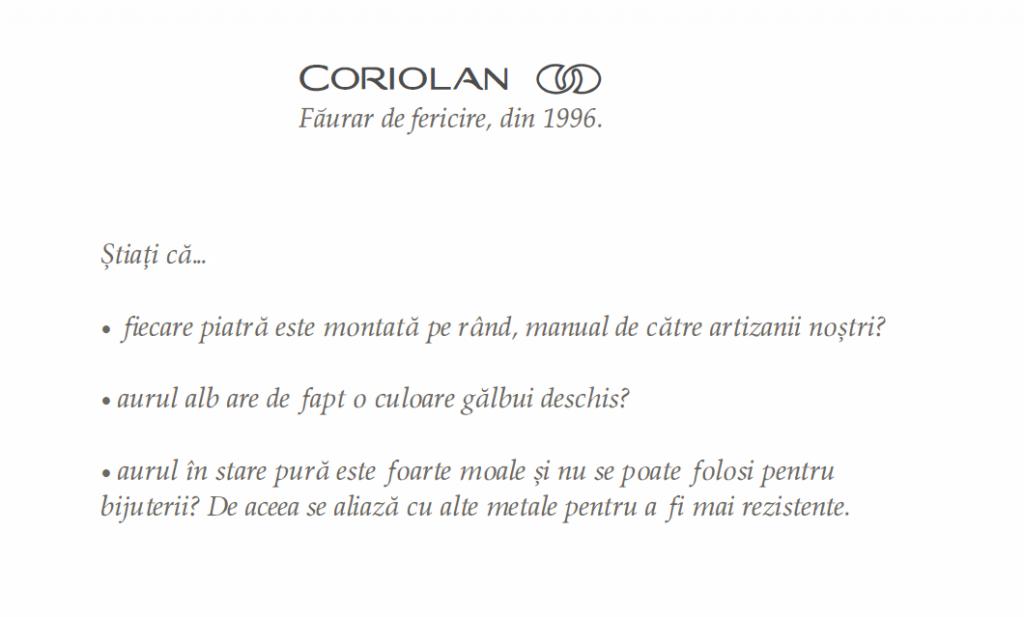 Coriolan_Log - Faurar de fericire